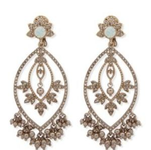 Gorgeous opal chandelier earrings-real opals!